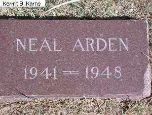 NEVERVE, NEAL ARDEN 1941-1948 - Chase County, Nebraska   NEAL ARDEN 1941-1948 NEVERVE - Nebraska Gravestone Photos