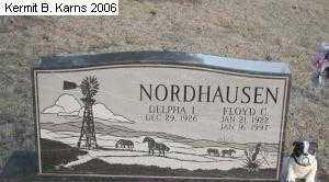 BROWN NORDHAUSEN, DELPHA IRENE - Chase County, Nebraska | DELPHA IRENE BROWN NORDHAUSEN - Nebraska Gravestone Photos