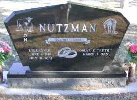 NUTZMAN, OMAR 'PETE' - Chase County, Nebraska | OMAR 'PETE' NUTZMAN - Nebraska Gravestone Photos