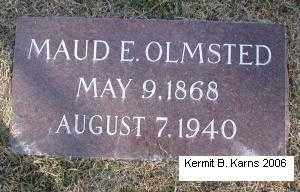 SMITH OLMSTED, MAUDE E. - Chase County, Nebraska | MAUDE E. SMITH OLMSTED - Nebraska Gravestone Photos