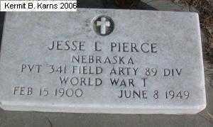 PIERCE, JESSE C. 1900-1949 - Chase County, Nebraska | JESSE C. 1900-1949 PIERCE - Nebraska Gravestone Photos
