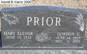 PRIOR, MARY ELENOR - Chase County, Nebraska | MARY ELENOR PRIOR - Nebraska Gravestone Photos