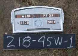 PRIOR, WENDELL HAYES - Chase County, Nebraska | WENDELL HAYES PRIOR - Nebraska Gravestone Photos