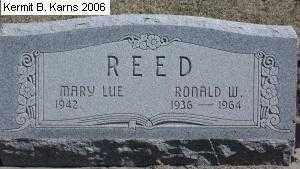 REED, MARY LUE 1942- - Chase County, Nebraska | MARY LUE 1942- REED - Nebraska Gravestone Photos