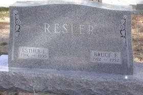RESLER, ESTHER L. - Chase County, Nebraska   ESTHER L. RESLER - Nebraska Gravestone Photos