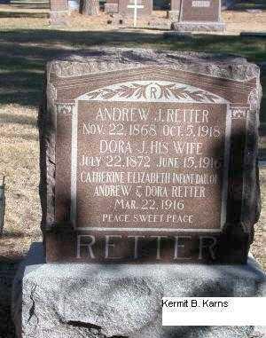 VROOMAN RETTER, DORA J. - Chase County, Nebraska | DORA J. VROOMAN RETTER - Nebraska Gravestone Photos