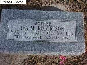 DICK ROBERTSON, IVA MAE - Chase County, Nebraska | IVA MAE DICK ROBERTSON - Nebraska Gravestone Photos
