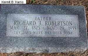 DICK ROBERTSON, IVA MAE 1883-1967 - Chase County, Nebraska | IVA MAE 1883-1967 DICK ROBERTSON - Nebraska Gravestone Photos