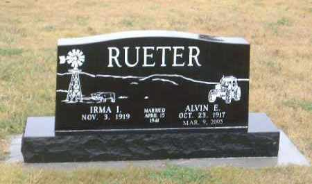BRICKER RUETER, IRMA ISABEL - Chase County, Nebraska | IRMA ISABEL BRICKER RUETER - Nebraska Gravestone Photos