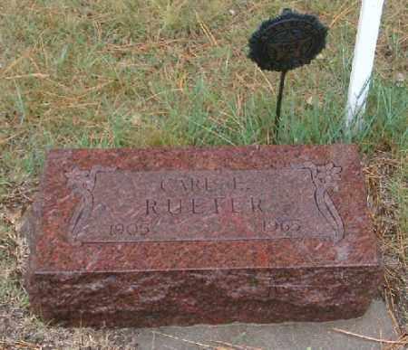 RUETER, CARL - Chase County, Nebraska | CARL RUETER - Nebraska Gravestone Photos