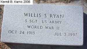 RYAN, WILLIS S. - Chase County, Nebraska | WILLIS S. RYAN - Nebraska Gravestone Photos