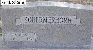 SCHERMERHORN, ELMER W. - Chase County, Nebraska | ELMER W. SCHERMERHORN - Nebraska Gravestone Photos
