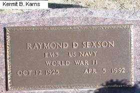 SEXSON, RAYMOND D. - Chase County, Nebraska | RAYMOND D. SEXSON - Nebraska Gravestone Photos