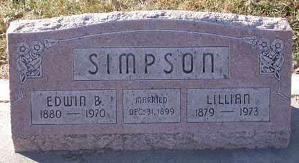 SIMPSON, EDWIN BURTON - Chase County, Nebraska | EDWIN BURTON SIMPSON - Nebraska Gravestone Photos