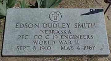 SMITH, EDSON DUDLEY - Chase County, Nebraska | EDSON DUDLEY SMITH - Nebraska Gravestone Photos