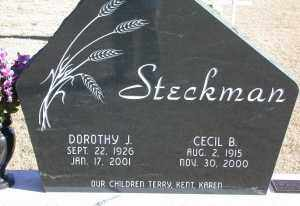 TERRY STECKMAN, DOROTHY JEAN/JUNE - Chase County, Nebraska   DOROTHY JEAN/JUNE TERRY STECKMAN - Nebraska Gravestone Photos