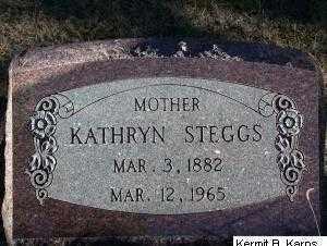 STEGGS, KATHRYN SOPHIA - Chase County, Nebraska | KATHRYN SOPHIA STEGGS - Nebraska Gravestone Photos