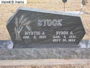 STOCK, BYRON GILBERT 1921-1985 - Chase County, Nebraska | BYRON GILBERT 1921-1985 STOCK - Nebraska Gravestone Photos