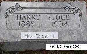 STOCK, HARRY - Chase County, Nebraska   HARRY STOCK - Nebraska Gravestone Photos