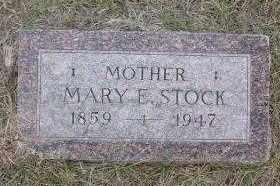 STOCK, MARY ELLEN - Chase County, Nebraska   MARY ELLEN STOCK - Nebraska Gravestone Photos