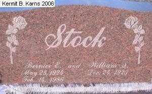 STOCK, WILLIAM S. - Chase County, Nebraska | WILLIAM S. STOCK - Nebraska Gravestone Photos