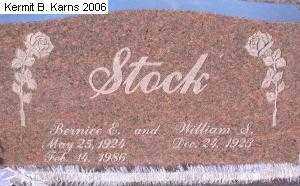 STOCK, BERNICE ELAINE - Chase County, Nebraska | BERNICE ELAINE STOCK - Nebraska Gravestone Photos