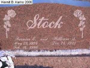 STOCK, BERNICE ELAINE 1924-1986 - Chase County, Nebraska | BERNICE ELAINE 1924-1986 STOCK - Nebraska Gravestone Photos