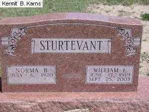 LOVELAND STURTEVANT, NORMA BLANCH 1920- - Chase County, Nebraska | NORMA BLANCH 1920- LOVELAND STURTEVANT - Nebraska Gravestone Photos