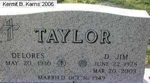 "TAYLOR, DARRELL ""JIM"" - Chase County, Nebraska | DARRELL ""JIM"" TAYLOR - Nebraska Gravestone Photos"