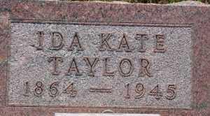 LAMP TAYLOR, IDA KATE - Chase County, Nebraska   IDA KATE LAMP TAYLOR - Nebraska Gravestone Photos