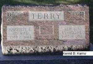 TERRY, HARRIETT ELIZABETH - Chase County, Nebraska | HARRIETT ELIZABETH TERRY - Nebraska Gravestone Photos