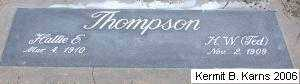 THOMPSON, HENRIETTA 'HATTIE' ELAINE - Chase County, Nebraska | HENRIETTA 'HATTIE' ELAINE THOMPSON - Nebraska Gravestone Photos