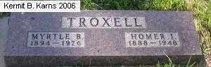 TROXEL, HOMER - Chase County, Nebraska   HOMER TROXEL - Nebraska Gravestone Photos