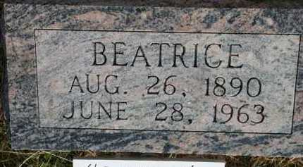 WILEY TUTTLE, BEATRICE - Chase County, Nebraska | BEATRICE WILEY TUTTLE - Nebraska Gravestone Photos
