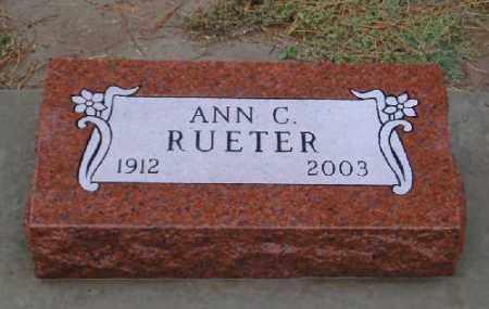 HOLBEIN RUETER, ANN C. - Chase County, Nebraska   ANN C. HOLBEIN RUETER - Nebraska Gravestone Photos