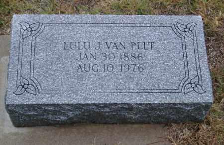 VAN PELT, LULU JANET - Chase County, Nebraska   LULU JANET VAN PELT - Nebraska Gravestone Photos