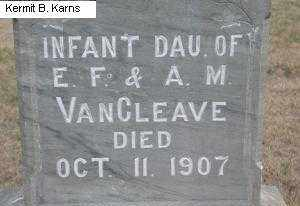VANCLEAVE, INFANT DAUGHTER - Chase County, Nebraska | INFANT DAUGHTER VANCLEAVE - Nebraska Gravestone Photos