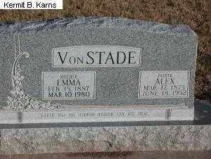 "VONSTADE, ALEXANDER ""ALEX"" 1973-1952 - Chase County, Nebraska | ALEXANDER ""ALEX"" 1973-1952 VONSTADE - Nebraska Gravestone Photos"