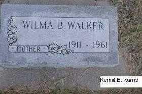 SMITH WALKER, WILMA BERNICE - Chase County, Nebraska | WILMA BERNICE SMITH WALKER - Nebraska Gravestone Photos