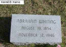 WHITING, ABRAHAM - Chase County, Nebraska | ABRAHAM WHITING - Nebraska Gravestone Photos