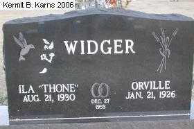 WIDGER, ORVILLE - Chase County, Nebraska | ORVILLE WIDGER - Nebraska Gravestone Photos