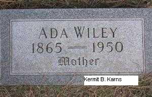WILEY, ADA - Chase County, Nebraska | ADA WILEY - Nebraska Gravestone Photos