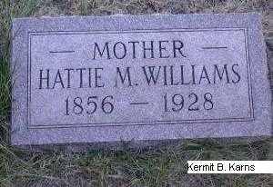 WEST WILLIAMS, HARRIET 'HATTIE' M. - Chase County, Nebraska | HARRIET 'HATTIE' M. WEST WILLIAMS - Nebraska Gravestone Photos
