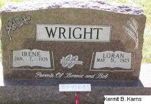WRIGHT, LORAN - Chase County, Nebraska   LORAN WRIGHT - Nebraska Gravestone Photos