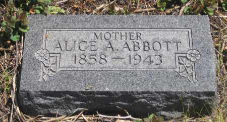 ABBOTT, ALICE  A. - Cherry County, Nebraska | ALICE  A. ABBOTT - Nebraska Gravestone Photos