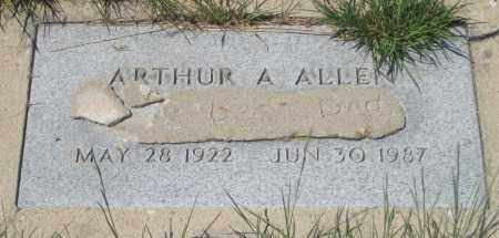 ALLEN, ARTHUR  A. - Cherry County, Nebraska | ARTHUR  A. ALLEN - Nebraska Gravestone Photos