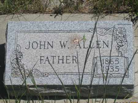 ALLEN, JOHN  W. - Cherry County, Nebraska   JOHN  W. ALLEN - Nebraska Gravestone Photos