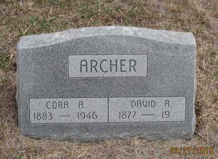 ARCHER, CORA  A. - Cherry County, Nebraska | CORA  A. ARCHER - Nebraska Gravestone Photos