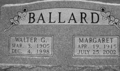 BALLARD, WALTER GOODWIN - Cherry County, Nebraska | WALTER GOODWIN BALLARD - Nebraska Gravestone Photos
