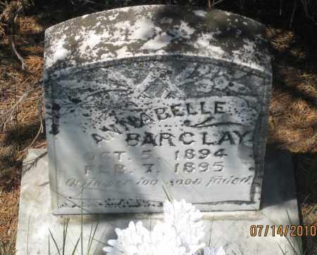 BARCLAY, ANNABELLE - Cherry County, Nebraska | ANNABELLE BARCLAY - Nebraska Gravestone Photos